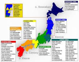 карта аукционов в японии